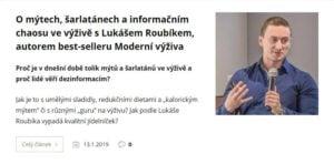 O mýtech, šarlatánech a informačním chaosu ve výživě s Lukášem Roubíkem, autorem best-selleru Moderní výživa
